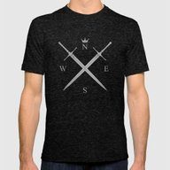 King In The North Mens Fitted Tee Tri-Black SMALL