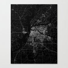 Memphis Map Canvas Print