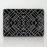 PS Grid 45 Black iPad Case