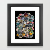 Overcute Framed Art Print