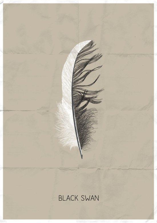 Black swan poster Art Print