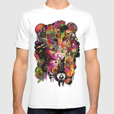 Amygdala Malfunction White Mens Fitted Tee SMALL