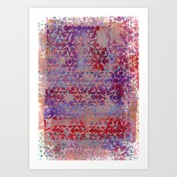 Starry Pinky Purple Reds Art Print