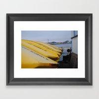 Yellow Boats Framed Art Print