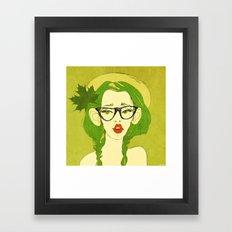 selfie girl_7 Framed Art Print