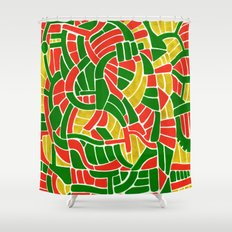 - christmas compression - Shower Curtain