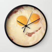 Smiley Egg Wall Clock