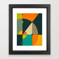 Framed Art Print featuring EULER'S EQUATION by Jazzberry Blue