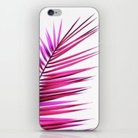 pink palm leaf II iPhone & iPod Skin