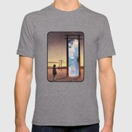The Broken Window Mens Fitted Tee Tri-Grey SMALL