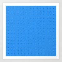 Small Dots On Blue  Art Print