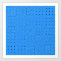Small Dots On Blue  Art Print