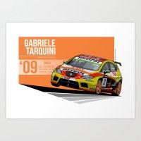 Gabriele Tarquini - 2009 Imola Art Print