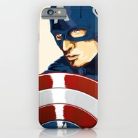 iPhone & iPod Case featuring Captain America by Terry Clarke