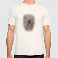 The Cardinal  Mens Fitted Tee Natural SMALL