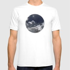 clouds Mens Fitted Tee SMALL White