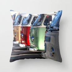 Hippy Vans Throw Pillow
