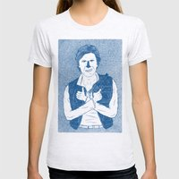 Han Solo Womens Fitted Tee Ash Grey SMALL