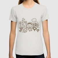 Fall in the Forest Womens Fitted Tee Silver SMALL