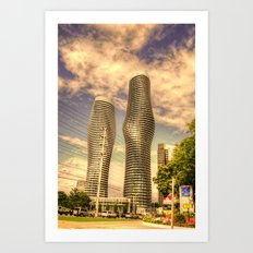 a couple of building Art Print