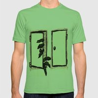 Green Monster Hiding Mens Fitted Tee Grass SMALL