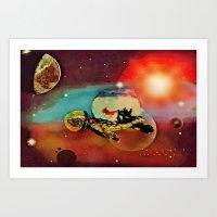 SPACE TURTLE VII - 202 Art Print