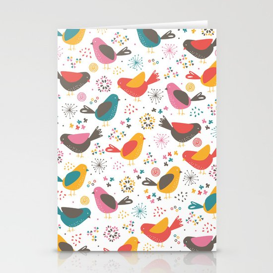 Quirky Chicks Stationery Card