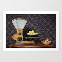 Apples On The Scale Art Print