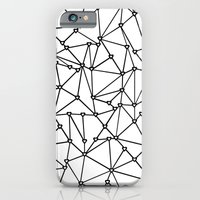 iPhone & iPod Case featuring Abstract Heart Black on White by Project M