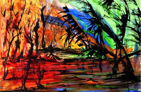 Fire & Flood Art Print