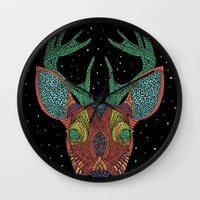 Intergalactic Deer Wall Clock