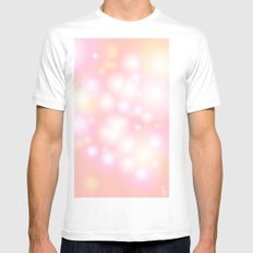 Soft Pearls White Mens Fitted Tee SMALL