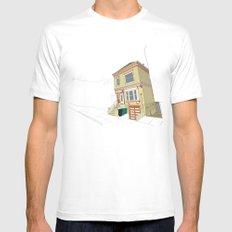 Mike's House Mens Fitted Tee SMALL White