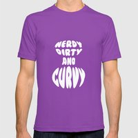 Nerdy, Dirty, And Curvy Mens Fitted Tee Ultraviolet SMALL