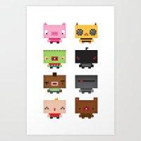 Boxies Art Print