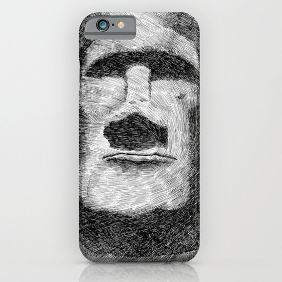 Easter island - Moai statue - Ink iPhone & iPod Case