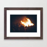 Bonfire Framed Art Print