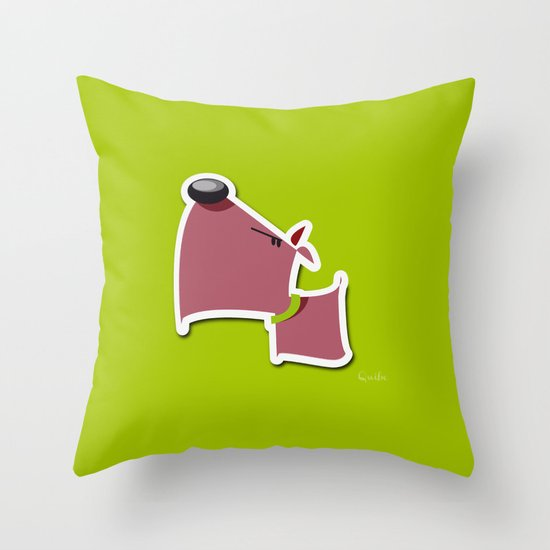 Angry Dawg Throw Pillow