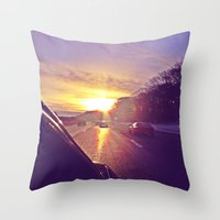 Sunset Blv. Throw Pillow