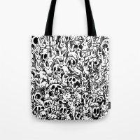 Bunnies & Skulls Tote Bag