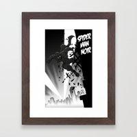 Spiderman Noir Framed Art Print