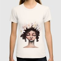 Daisies Womens Fitted Tee Natural SMALL