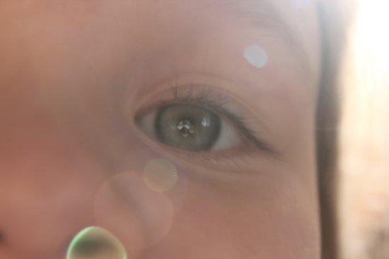 The eyes of girls Art Print