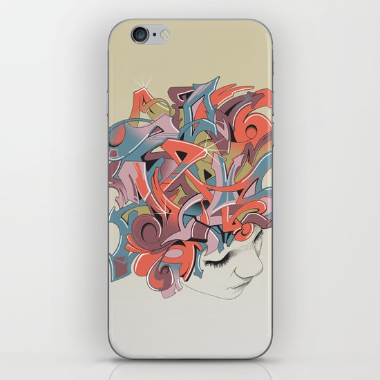Graffiti Head iPhone & iPod Skin