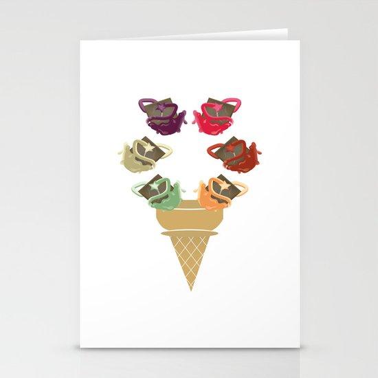 Chocolate Rippleboat Sundae  Stationery Card