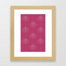 Modern leafs Framed Art Print
