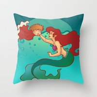 Daughters of Triton Throw Pillow