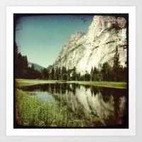 Yosemite Under Water Art Print
