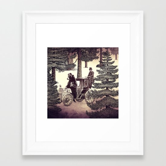 Two Gentlemen in the Forest Framed Art Print