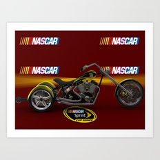 3ds 3 wheel #NASCAR chopper design by Scott Bates @ernhrtfan Art Print